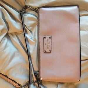 kate spade light pink off the shoulder purse